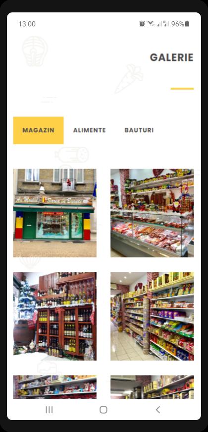 local store website design mobile view sb