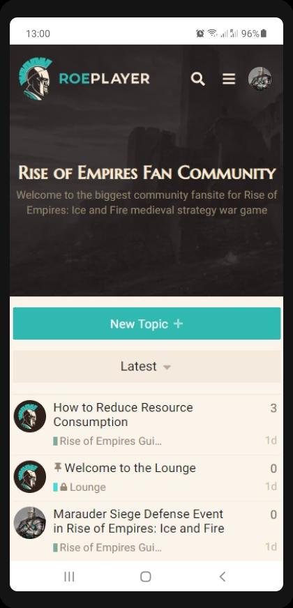 roeplayer discourse responsive theme