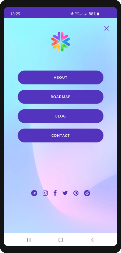cryptocurrency website design mobile view